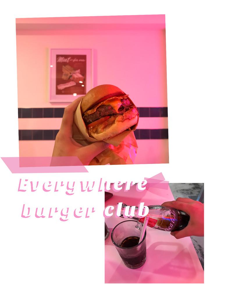 漢堡俱樂部的漢堡與飲料